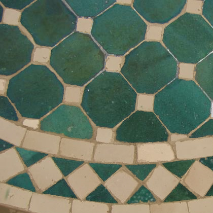 Mesa de comedor marroqu mosaico ovalada la casa bella for Mosaico marroqui