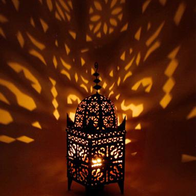 Moroccan Filigree Metal Lantern Electric La Casa Bella