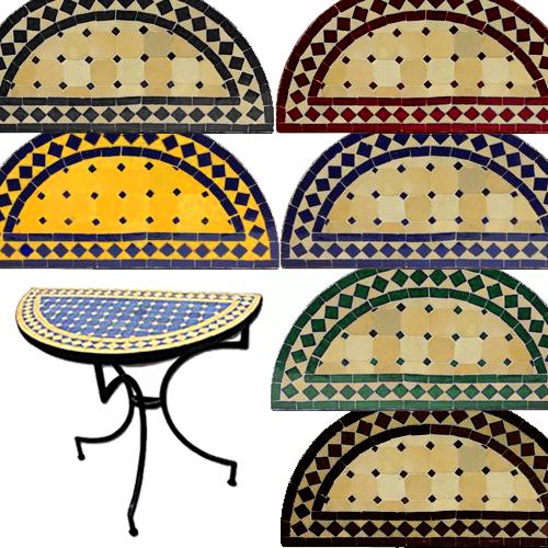 Consola marroqu de mosaico circular la casa bella for Mosaico marroqui