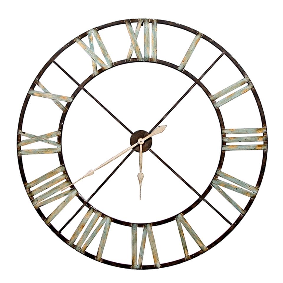 Reloj de pared esqueleto de hierro grande la casa bella - Relojes rusticos de pared ...