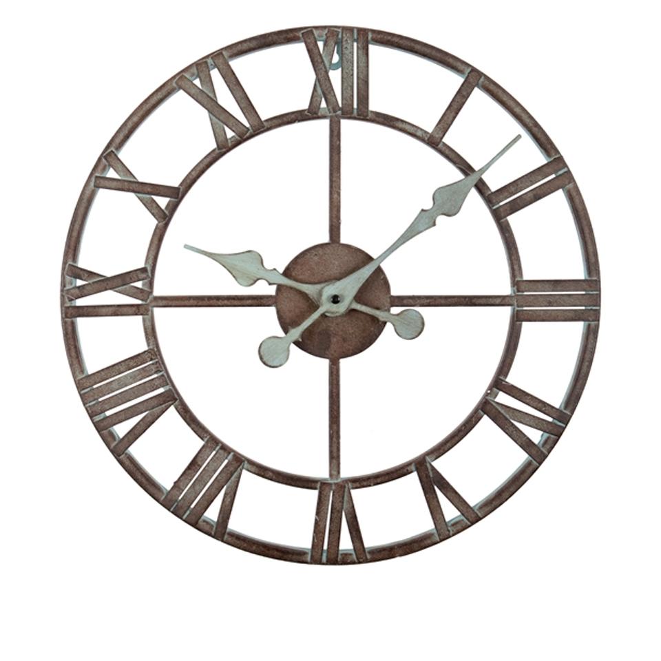 Reloj de pared esqueleto de hierro grande la casa bella - Relojes de pared diseno ...