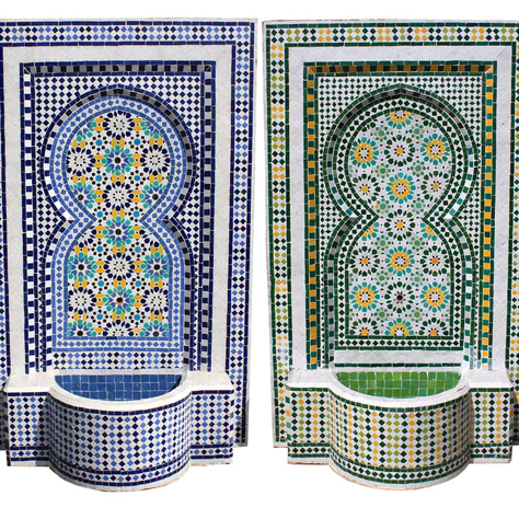 Fuente marroqui de mosaico multicolor la casa bella for Mosaico marroqui