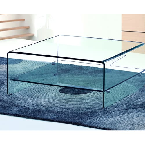Angola Clear Coffee Square Table